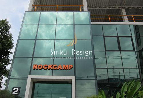 Rockcamp | งานม่านม้วน – ม่านปรับแสง – ม่านแป๊ป