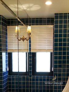มู่ลี่สีขาว มู่ลี่ติดในห้องน้ำ